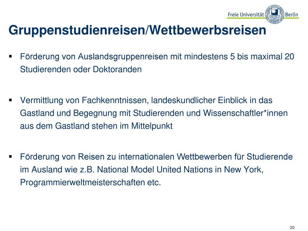 Zielländer der StipendiatInnen 2014