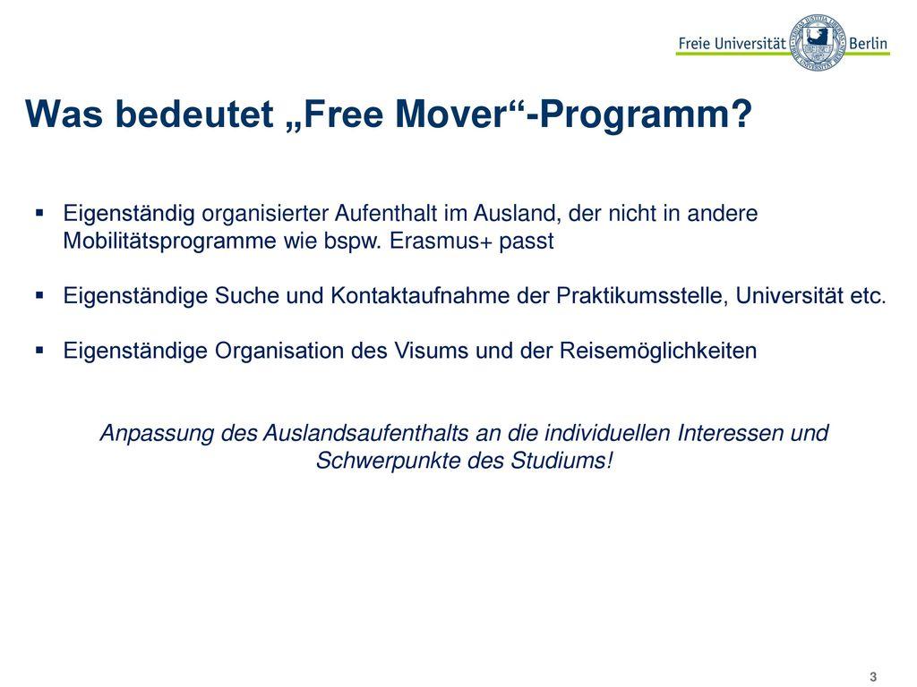 """Was bedeutet """"Free Mover -Programm"""