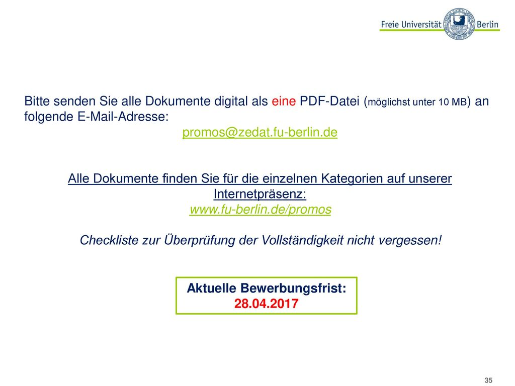 Sprachkenntnisse Sprachzeugnis aus dem Sprachenzentrum der Freien Universität Berlin.