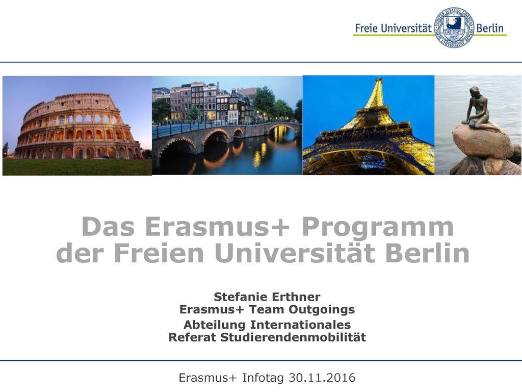 Das Erasmus+ Programm der Freien Universität Berlin