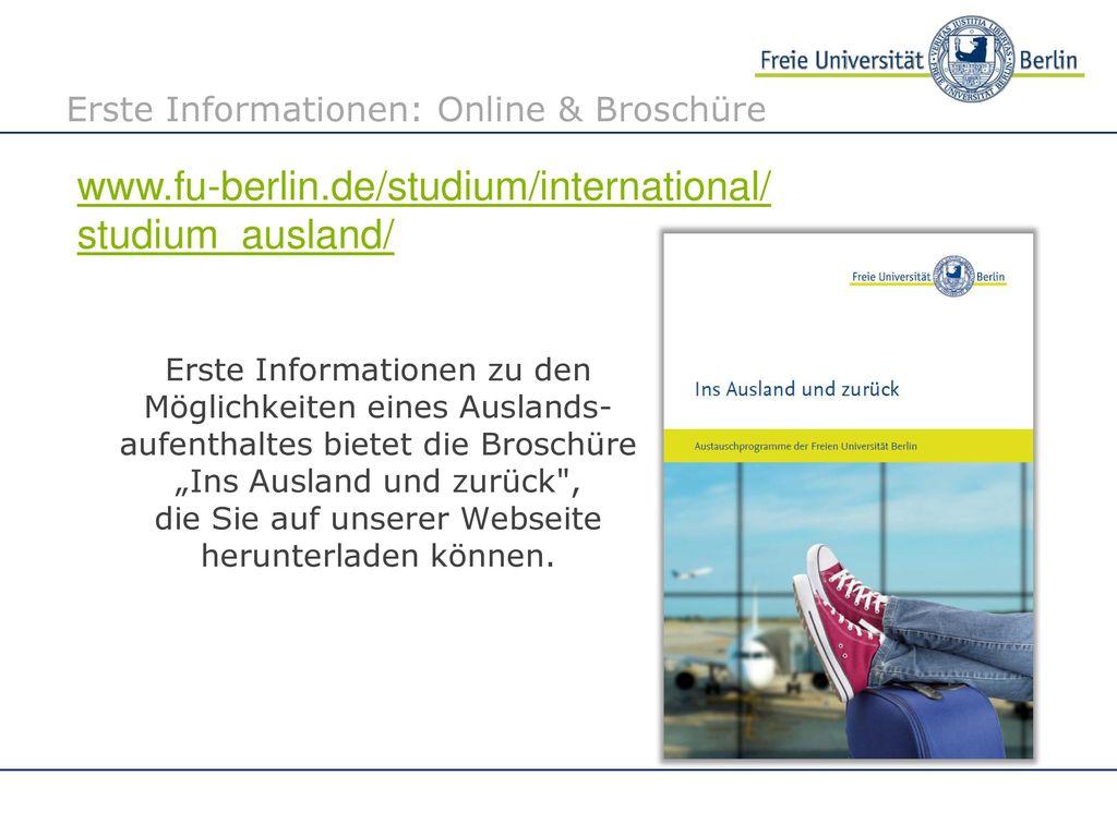 Erste Informationen: Online & Broschüre