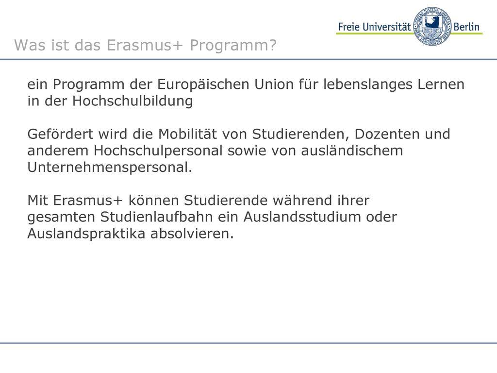 Was ist das Erasmus+ Programm