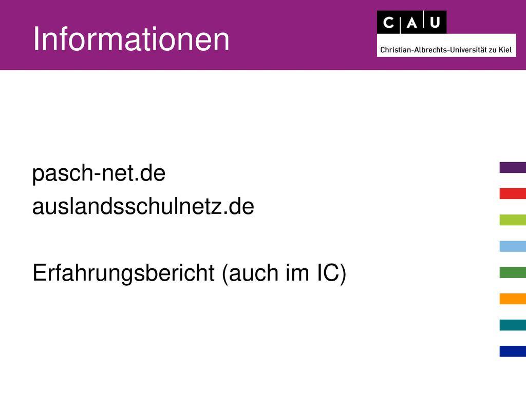 Informationen pasch-net.de auslandsschulnetz.de Erfahrungsbericht (auch im IC)