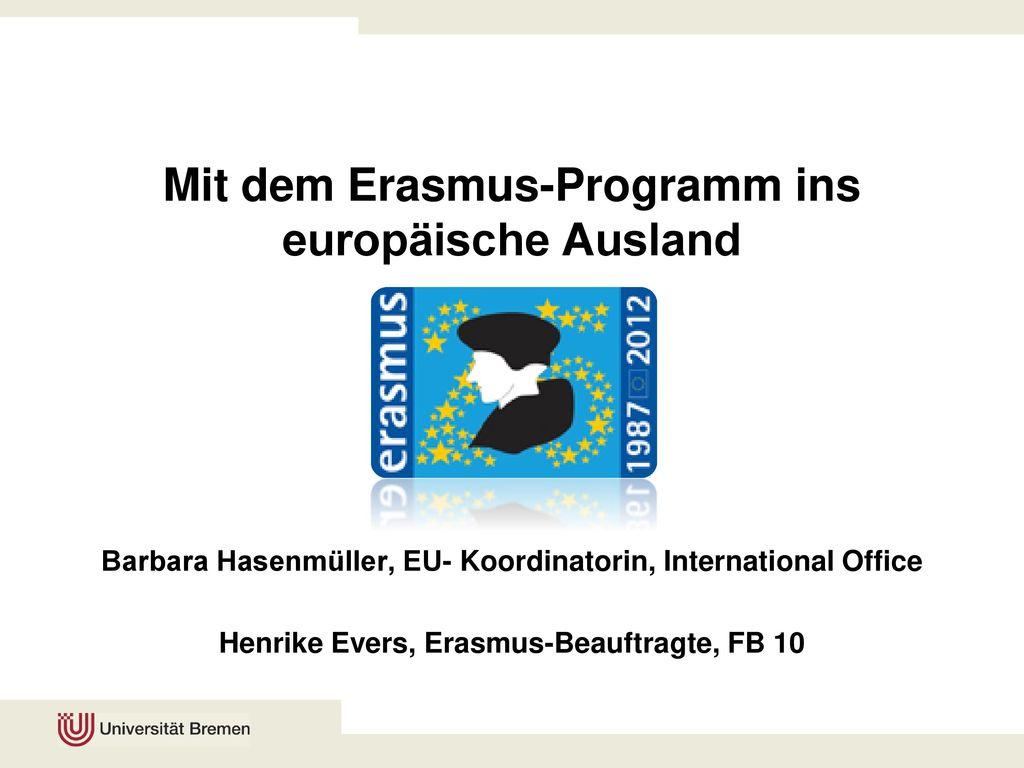 Mit dem Erasmus-Programm ins europäische Ausland