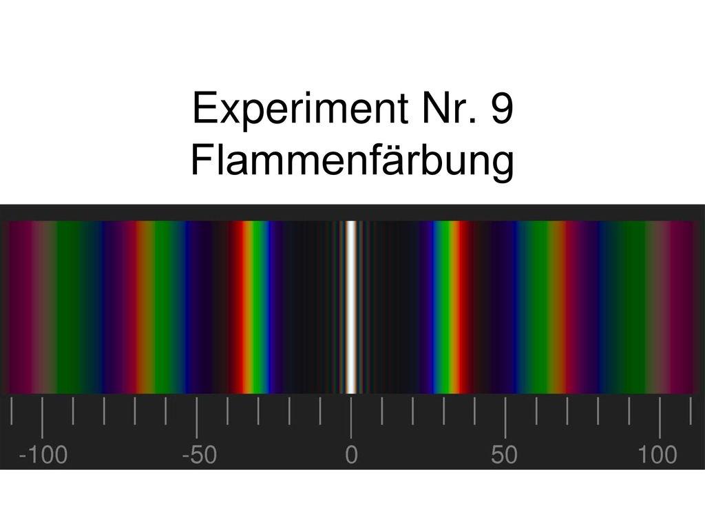 Experiment Nr. 9 Flammenfärbung