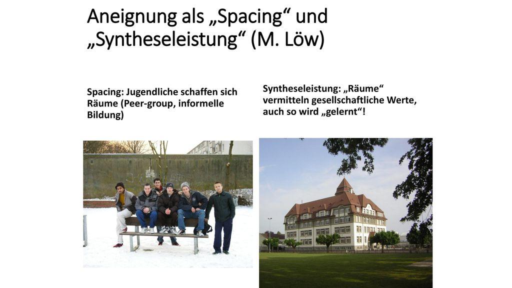 """Aneignung als """"Spacing und """"Syntheseleistung (M. Löw)"""