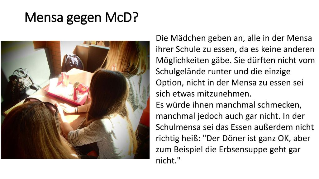 Mensa gegen McD