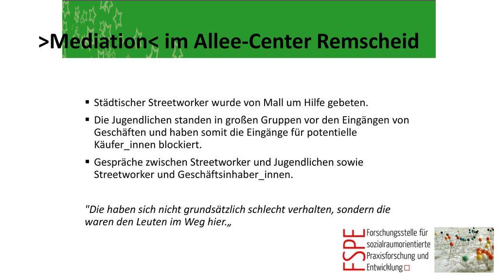 >Mediation< im Allee-Center Remscheid
