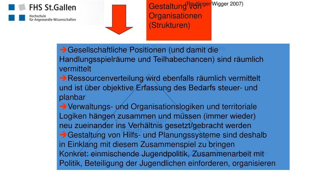 Sozialer Raum Gestaltung von Organisationen (Strukturen)