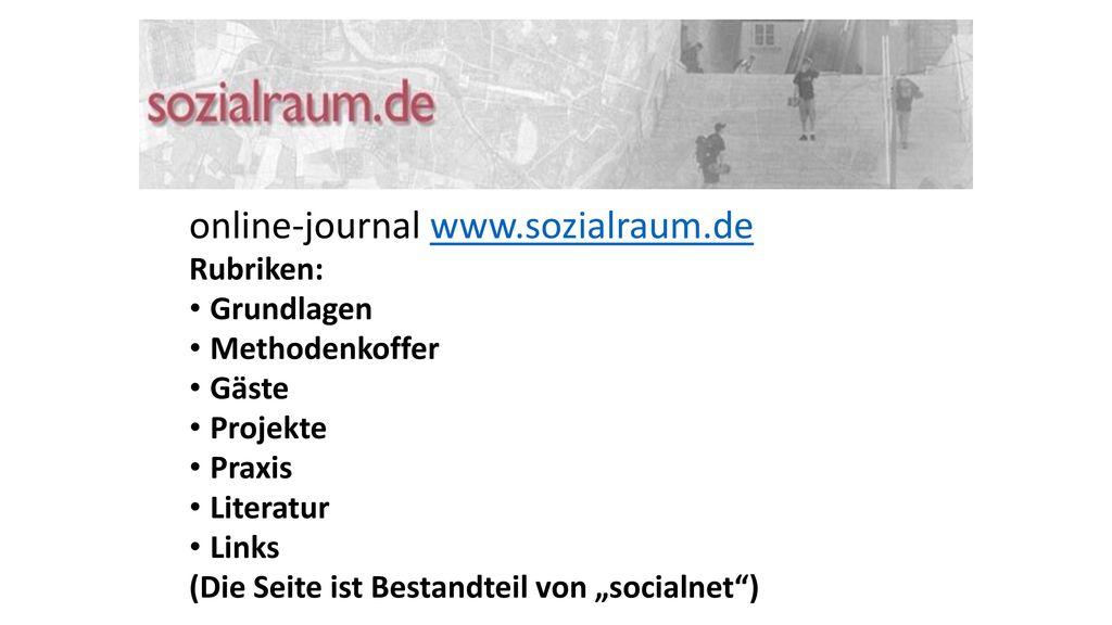 online-journal www.sozialraum.de