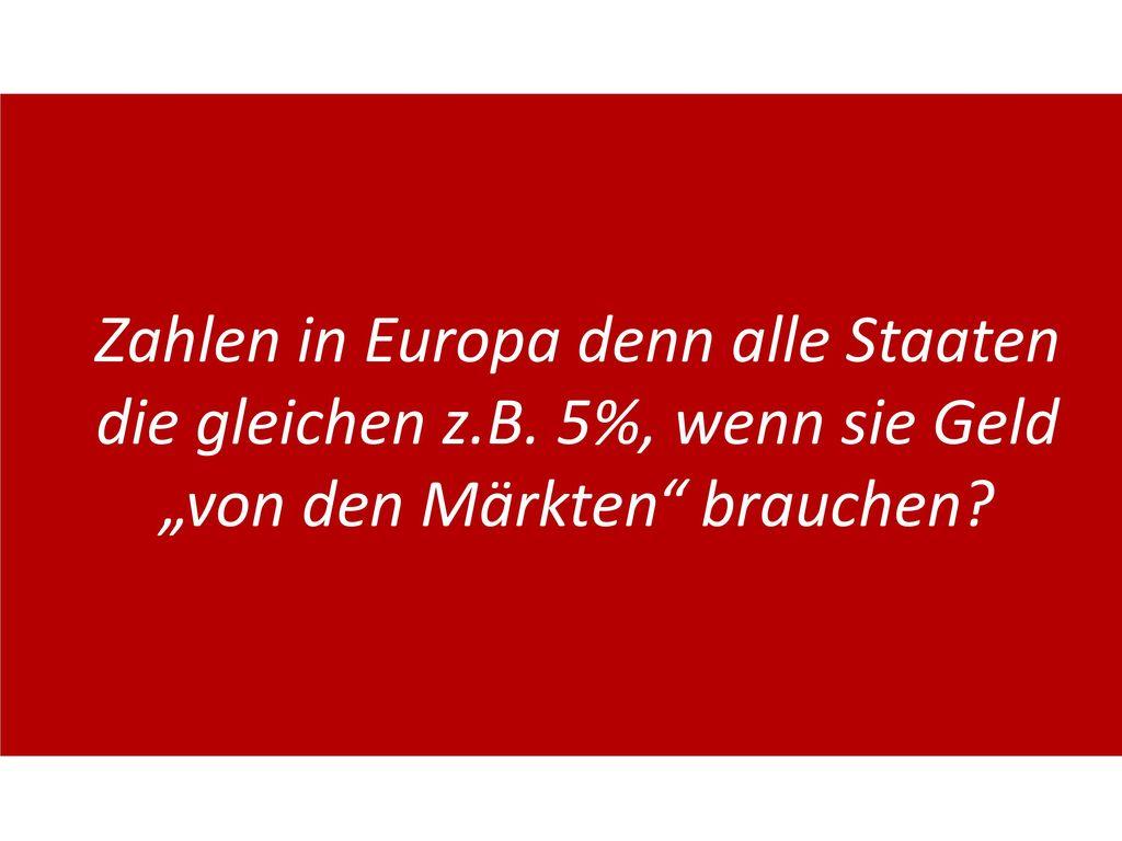 Zahlen in Europa denn alle Staaten die gleichen z. B