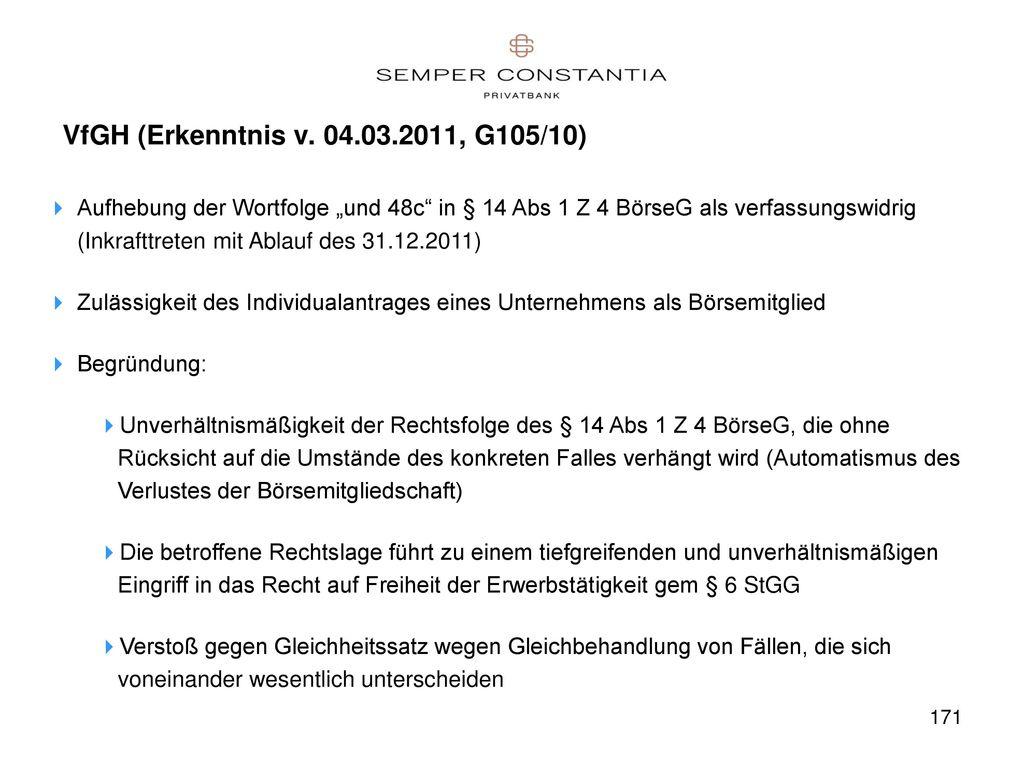 VfGH (Erkenntnis v. 04.03.2011, G105/10)
