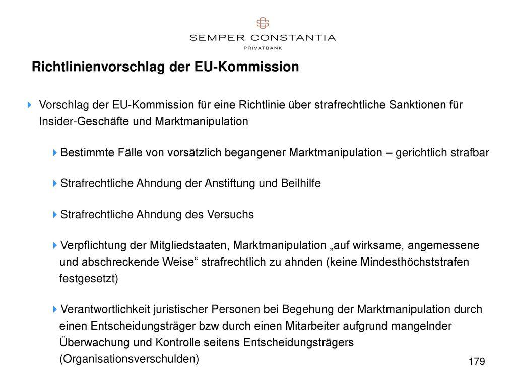 Richtlinienvorschlag der EU-Kommission