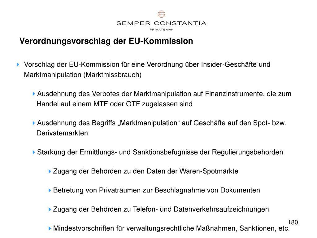 Verordnungsvorschlag der EU-Kommission