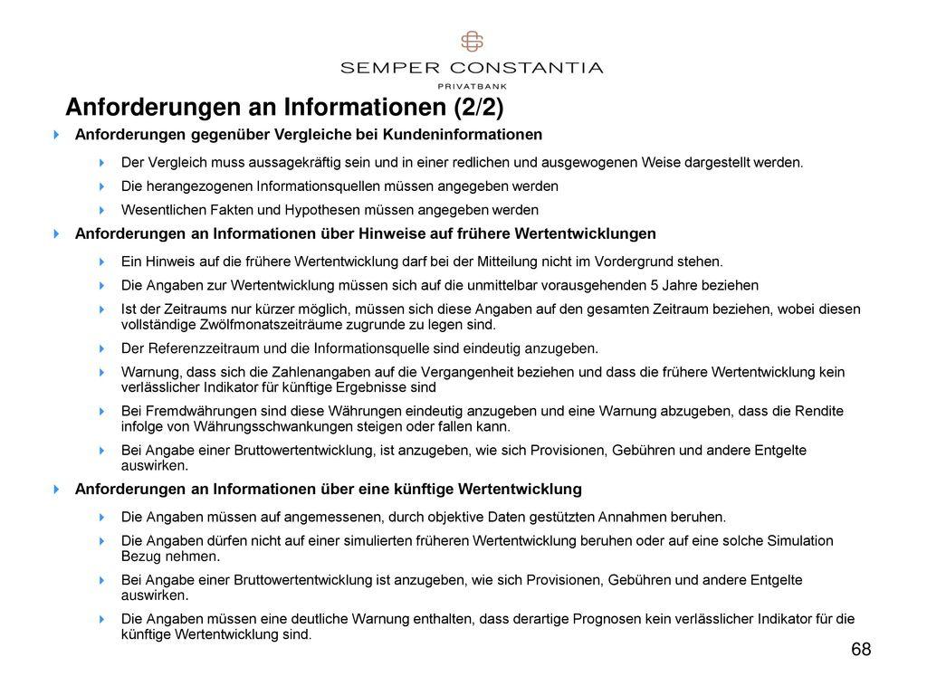 Anforderungen an Informationen (2/2)