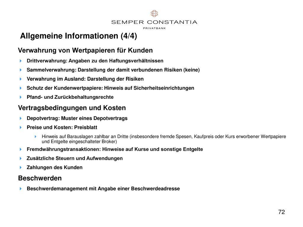 Allgemeine Informationen (4/4)