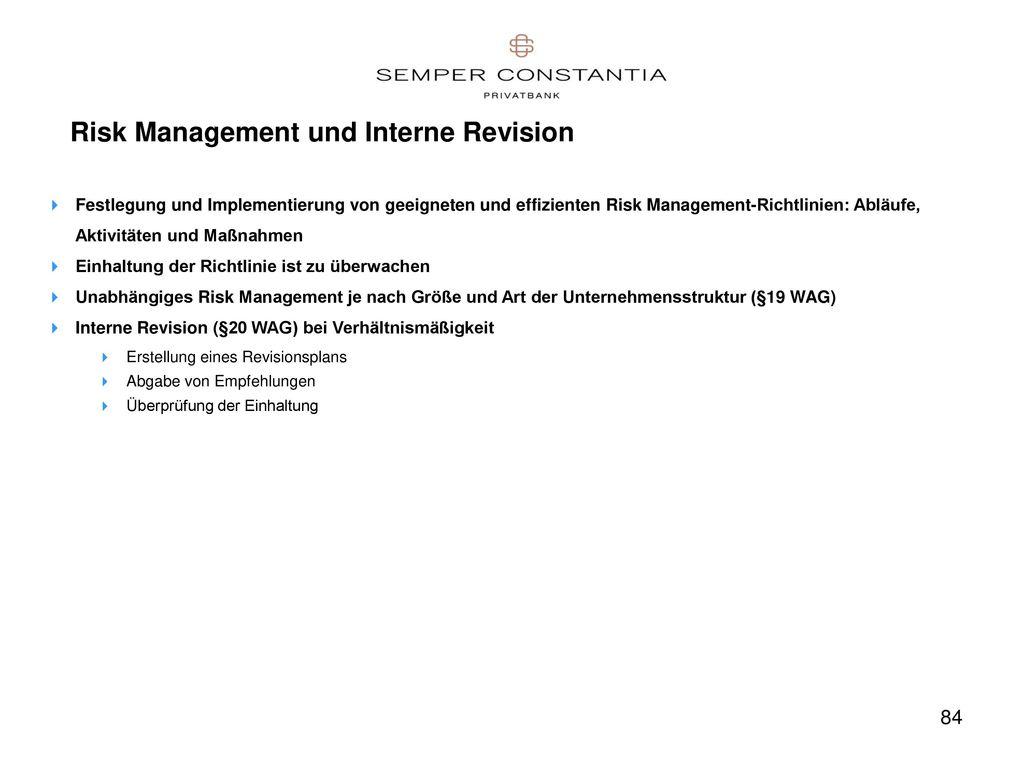 Risk Management und Interne Revision