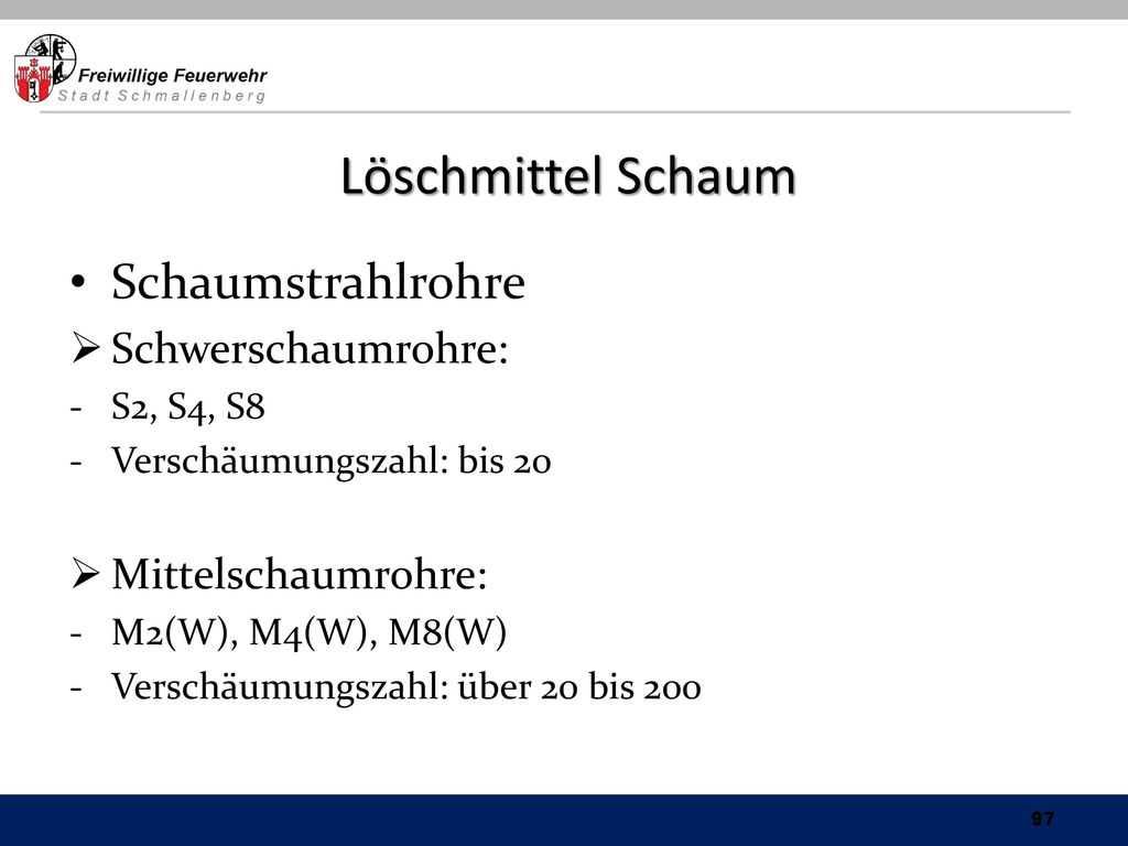 Löschmittel Schaum Schaumstrahlrohre Schwerschaumrohre: