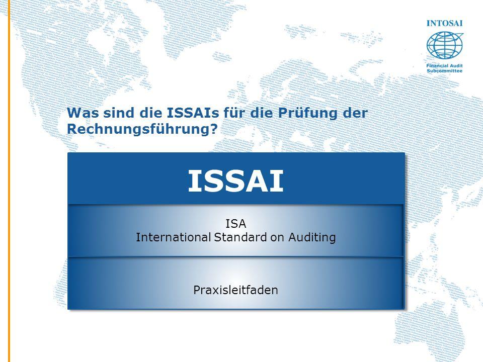 Was sind die ISSAIs für die Prüfung der Rechnungsführung