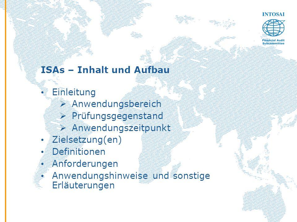 ISAs – Inhalt und Aufbau