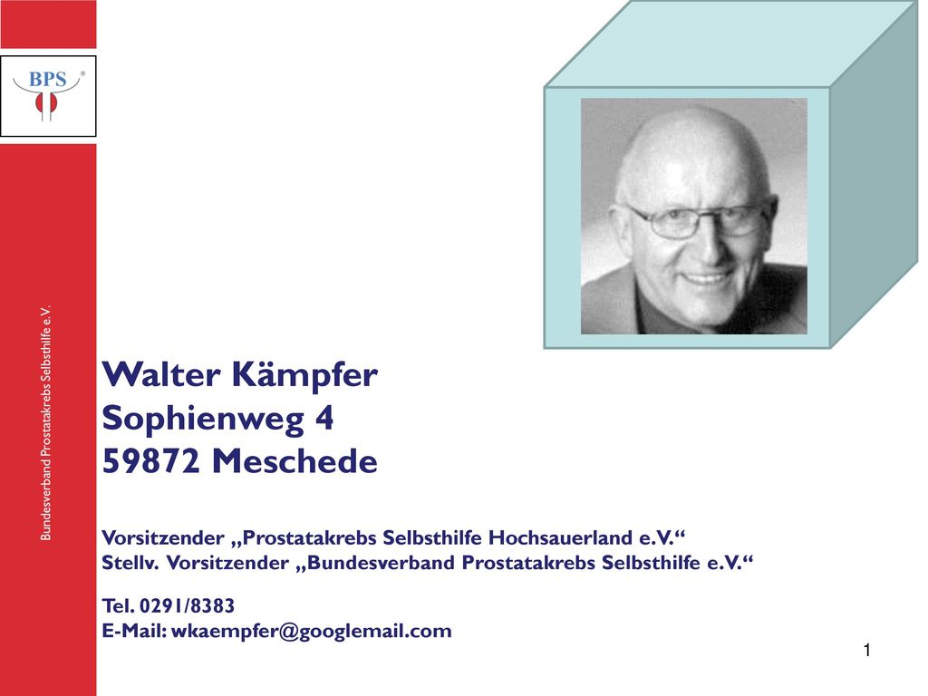 Walter Kämpfer Sophienweg 4 59872 Meschede