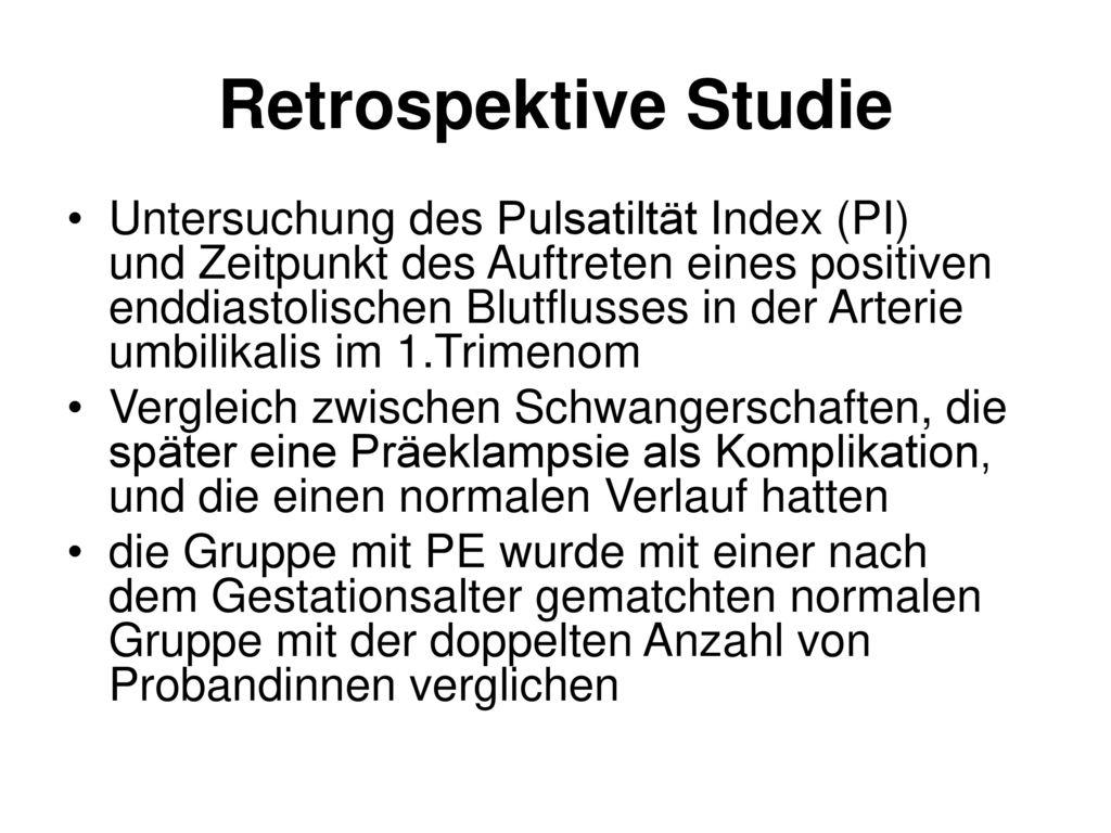 Retrospektive Studie