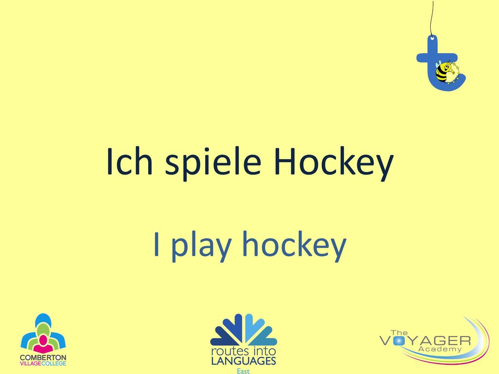Ich spiele Hockey I play hockey