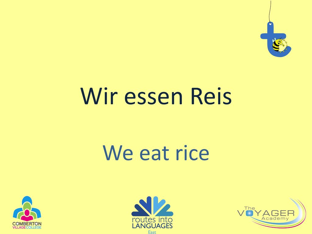 Wir essen Reis We eat rice