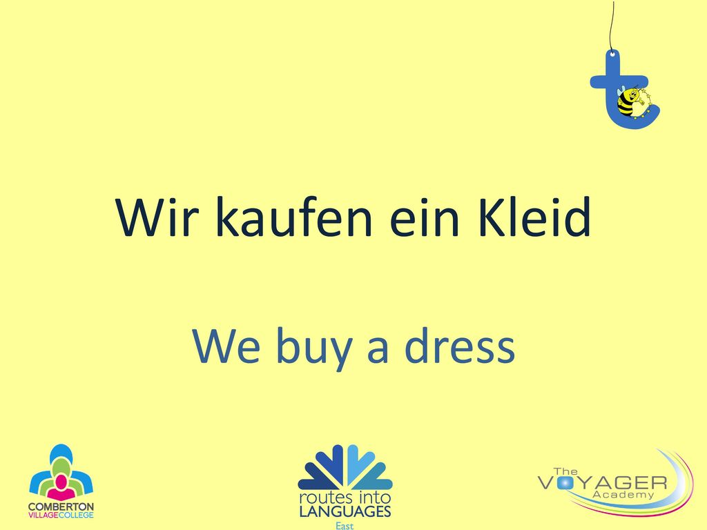 Wir kaufen ein Kleid We buy a dress