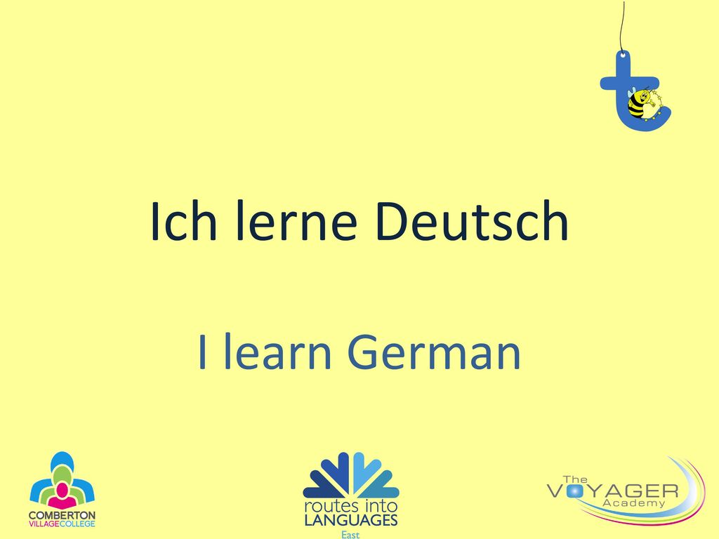 Ich lerne Deutsch I learn German