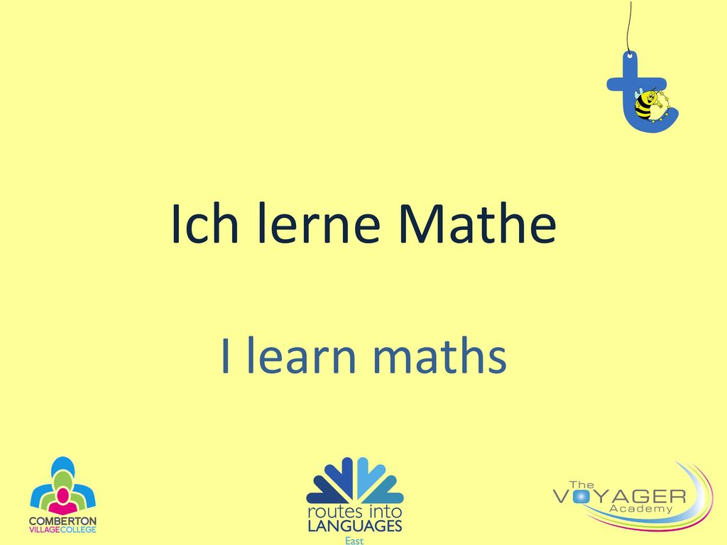 Ich lerne Mathe I learn maths