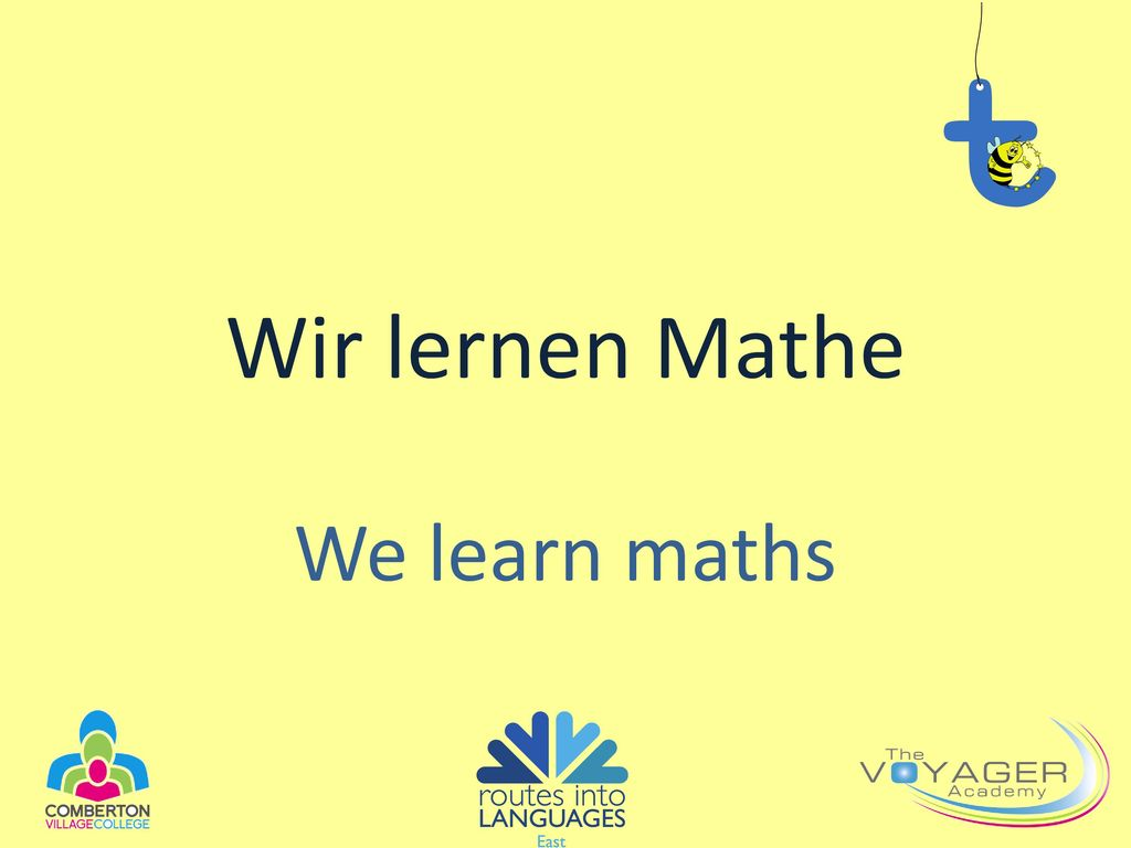 Wir lernen Mathe We learn maths