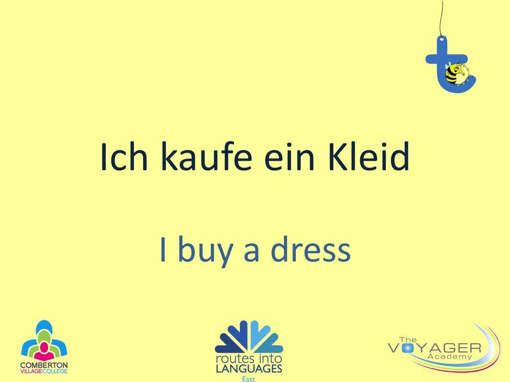 Ich kaufe ein Kleid I buy a dress