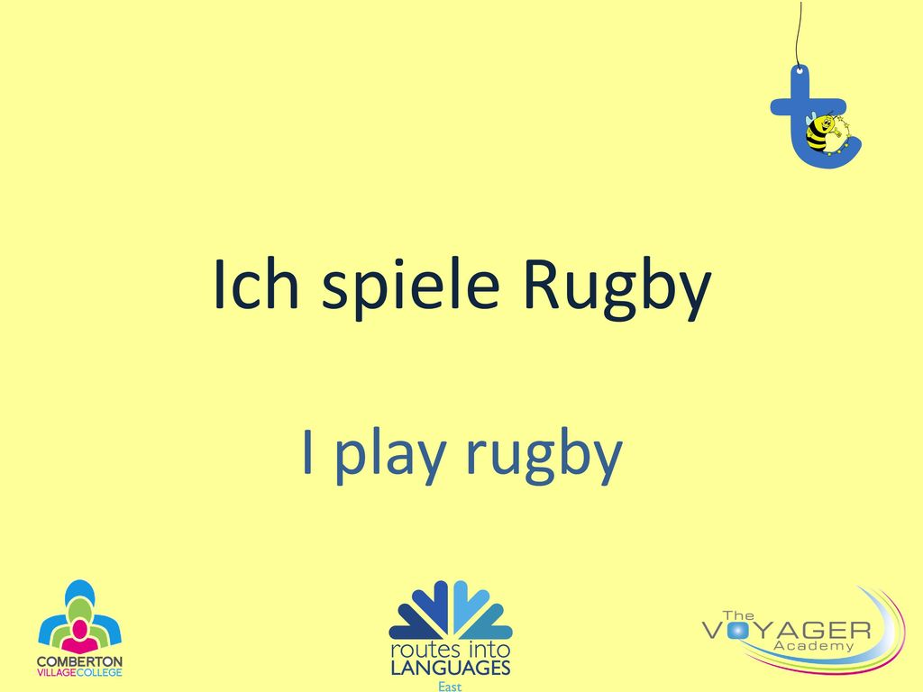 Ich spiele Rugby I play rugby