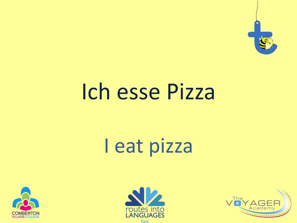 Ich esse Pizza I eat pizza