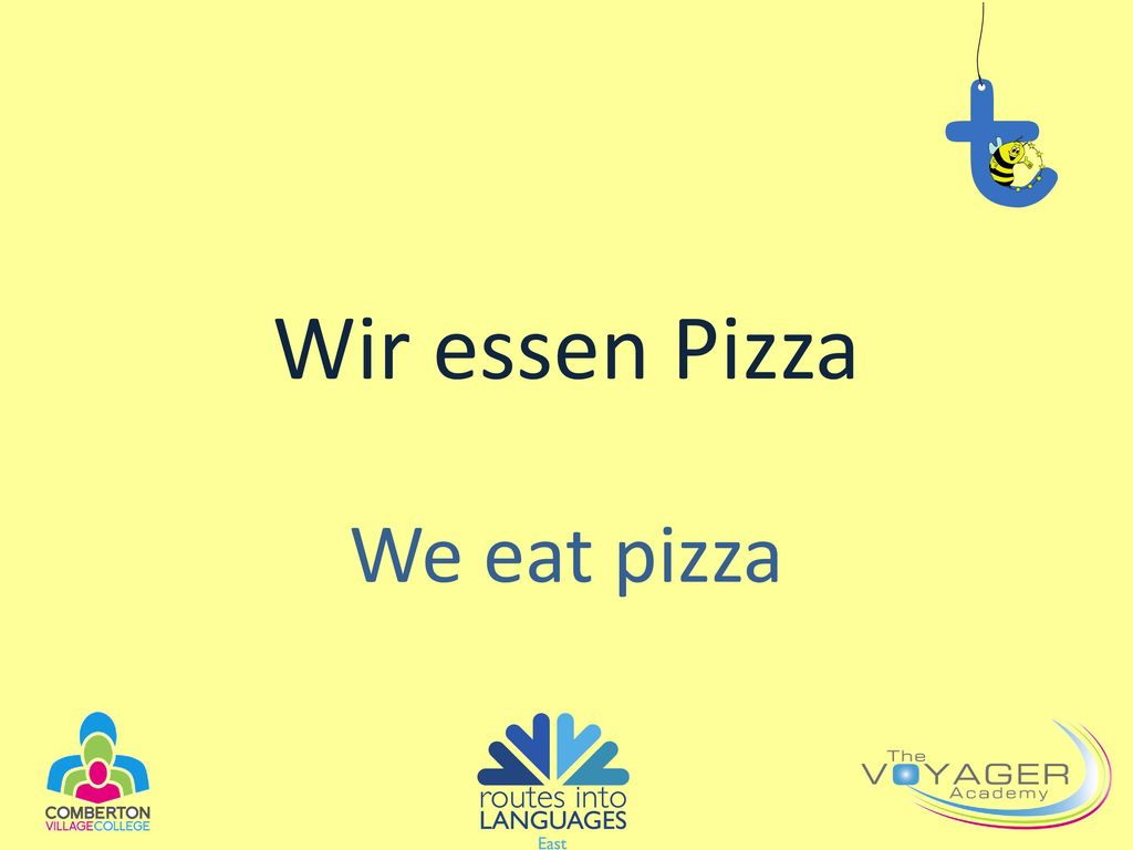 Wir essen Pizza We eat pizza
