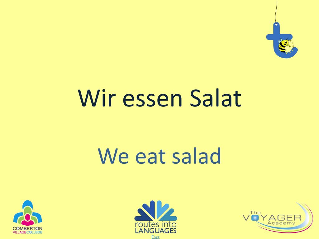Wir essen Salat We eat salad