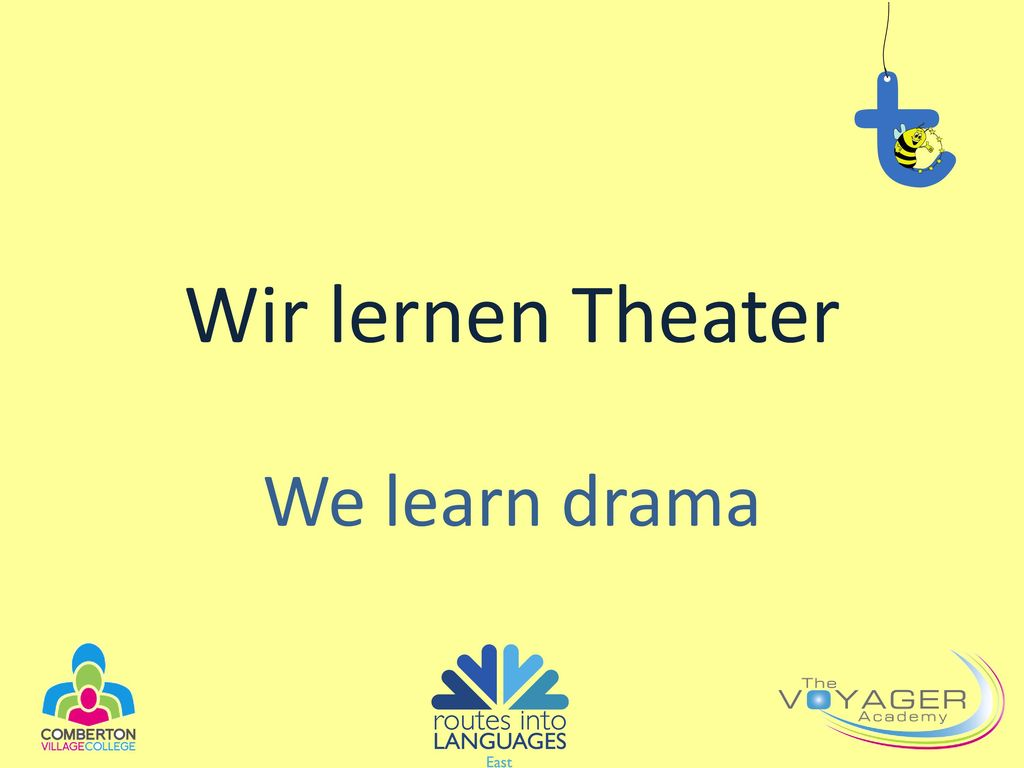 Wir lernen Theater We learn drama