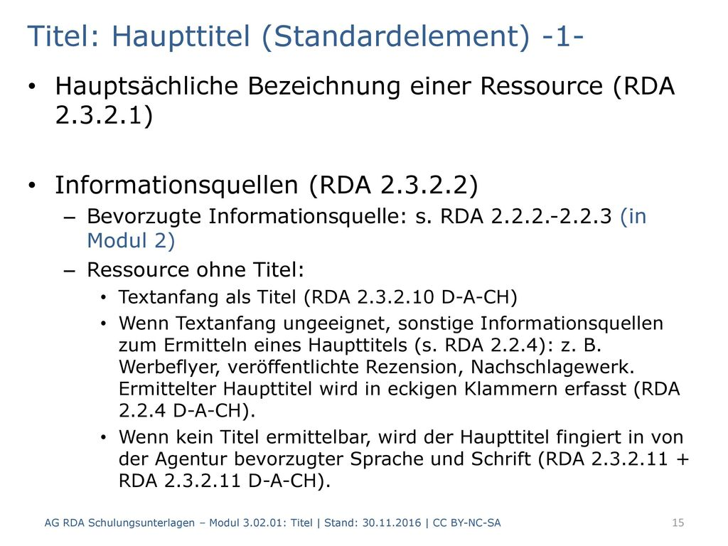 Titel: Haupttitel (Standardelement) -1-