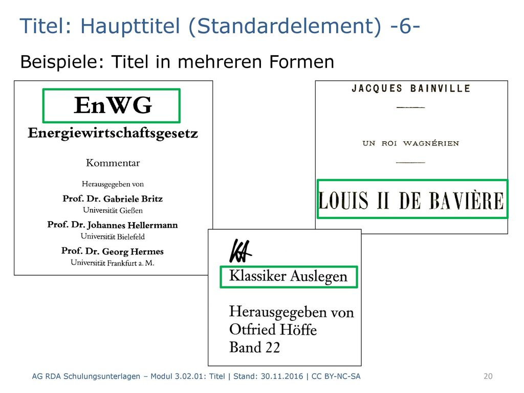 Titel: Haupttitel (Standardelement) -6-