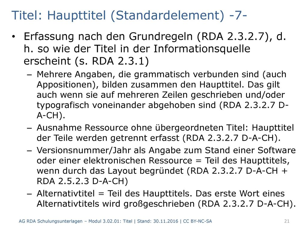 Titel: Haupttitel (Standardelement) -7-