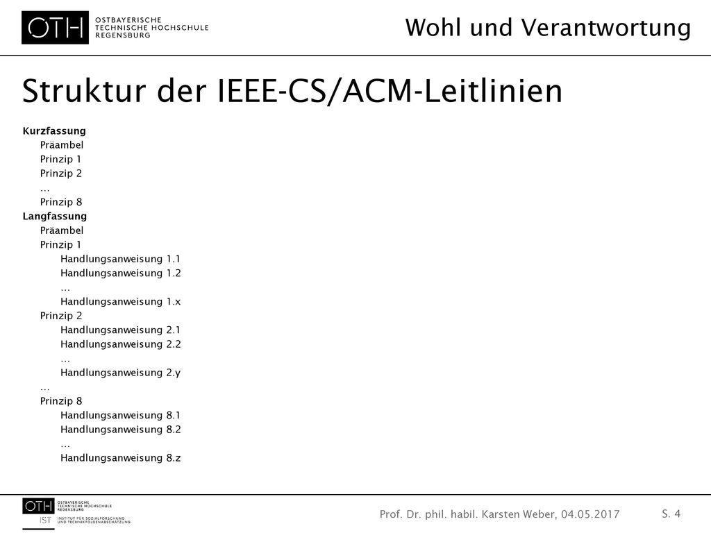 Struktur der IEEE-CS/ACM-Leitlinien