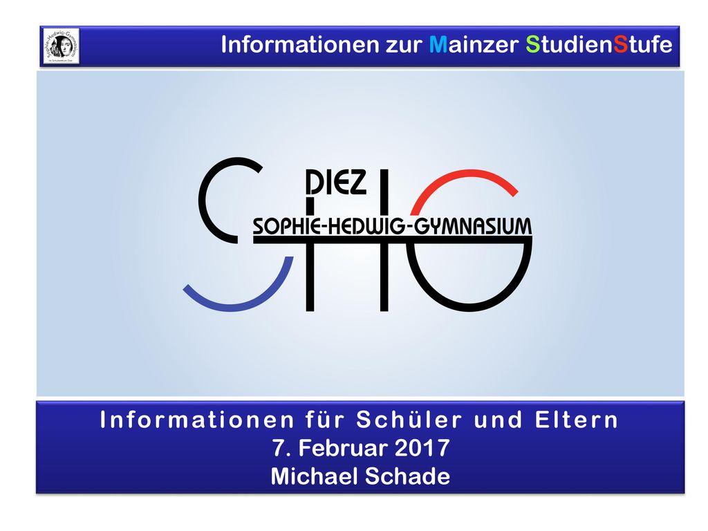 Informationen für Schüler und Eltern