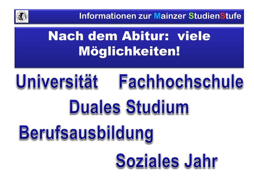 Nach dem Abitur: viele Möglichkeiten!