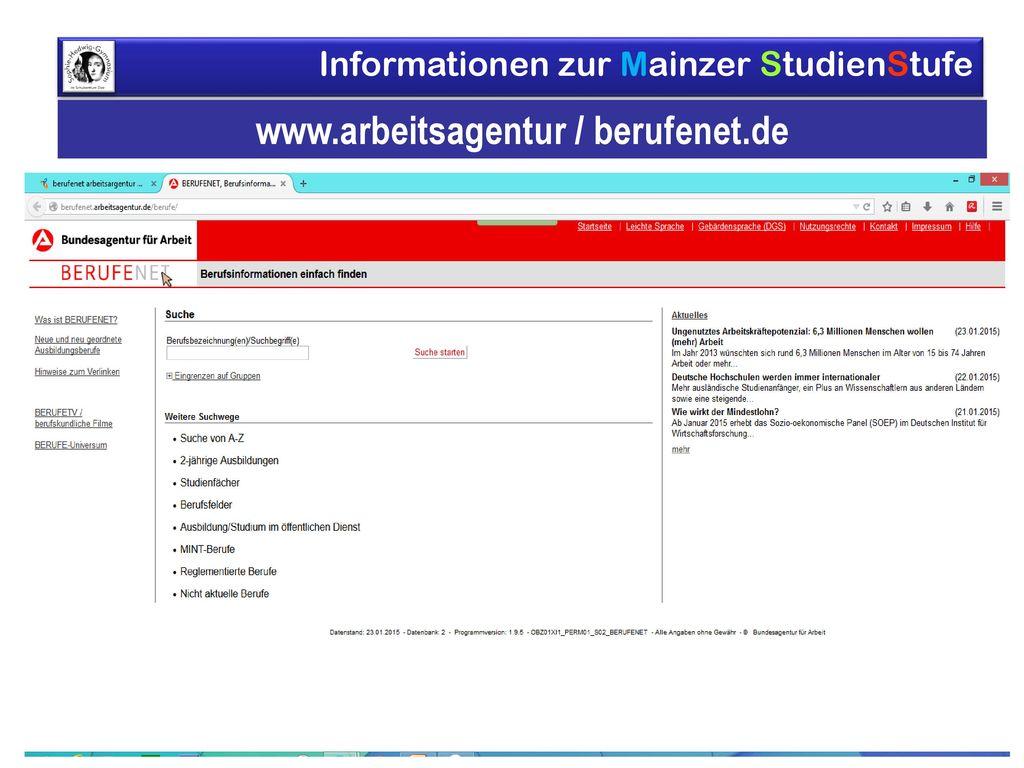 www.arbeitsagentur / berufenet.de