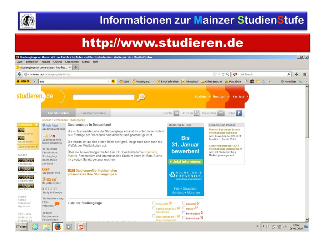 http://www.studieren.de