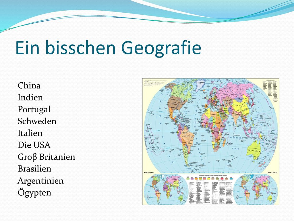 Ein bisschen Geografie