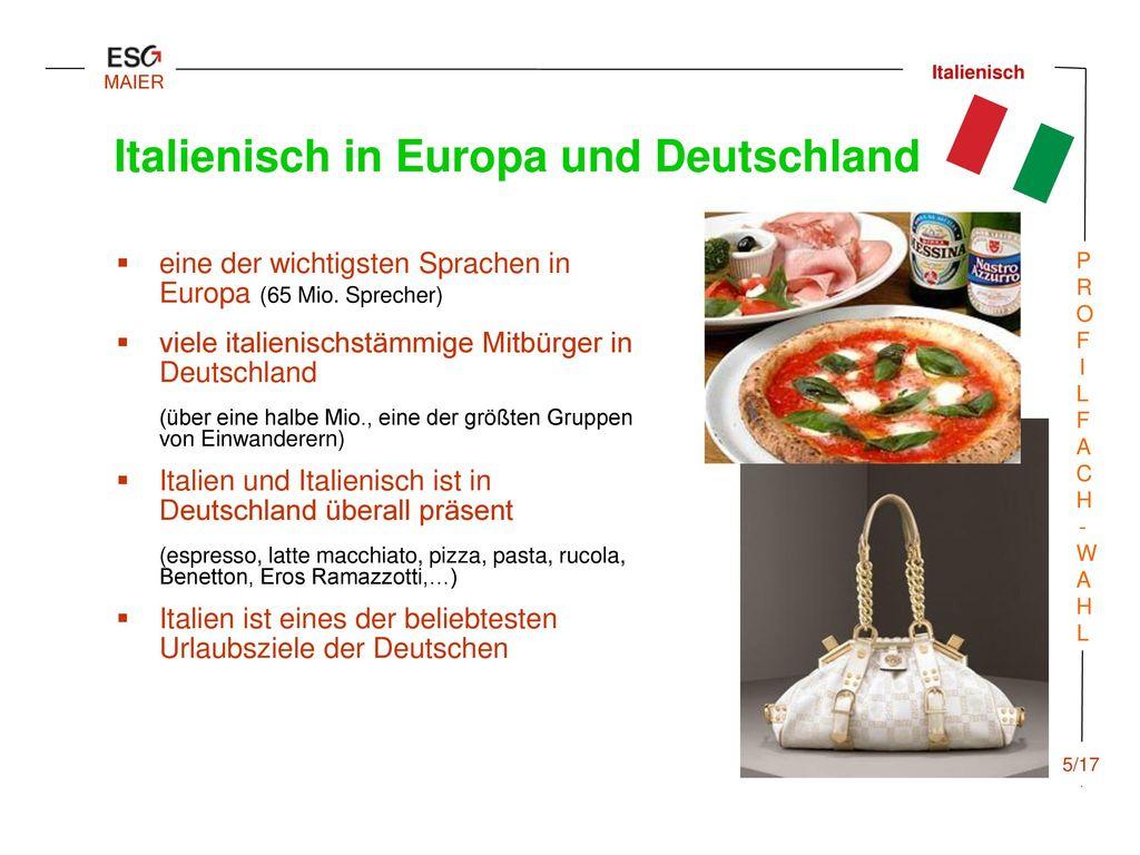 Italienisch in Europa und Deutschland