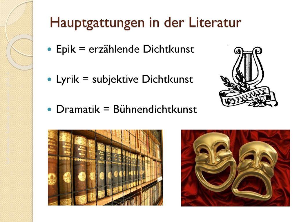 Hauptgattungen in der Literatur