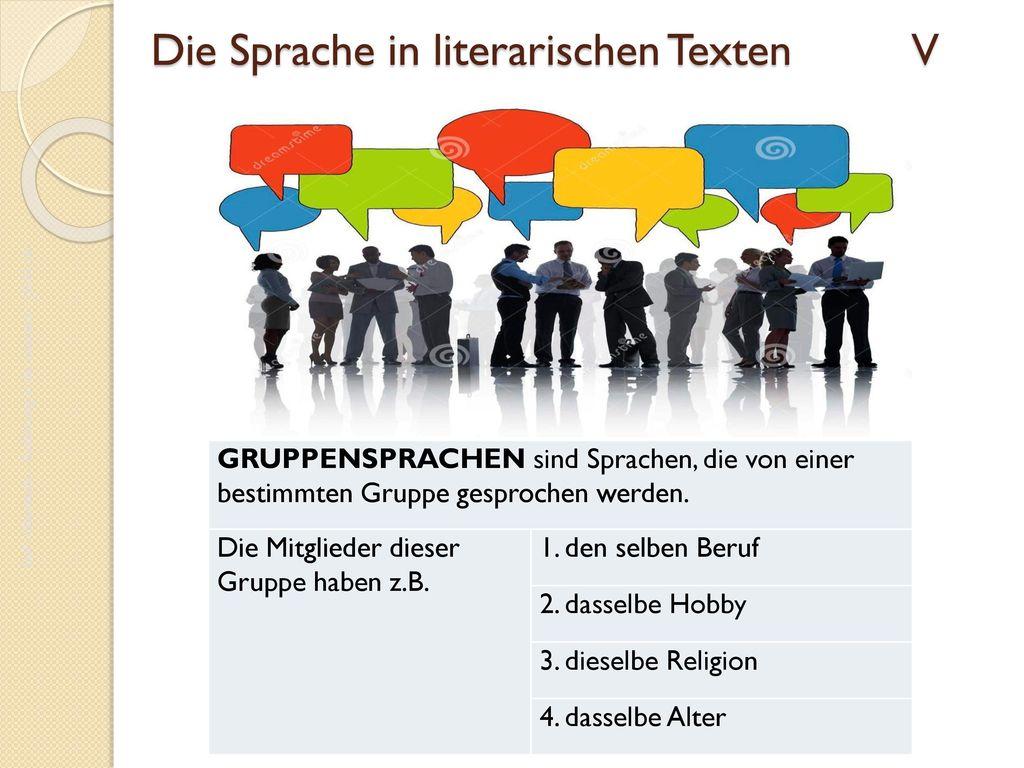 Die Sprache in literarischen Texten V